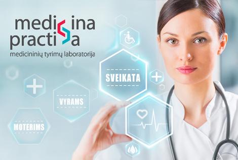 59 litai už 131 litą kainuojančią nuodugnią laboratorinę sveikatos ištyrimo programą vyrams laboratorijoje MEDICINA PRACTICA (sveikatos patikrinimas moterims kainuos 69 litus vietoj 153 litų)